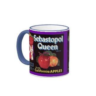 MUG ~ VINTAGE SEBASTOPOL QUEEN APPLE CRATE LABEL!