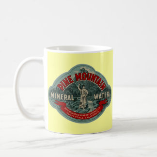 MUG W/ PINE MTN MINERAL WATER VINTAGE ADVERTISING