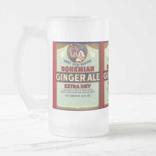 Mug W/ Vintage Labels Bohemian Ginger Ale Dry