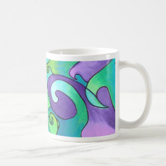 Mug - Waves of Purple & Green