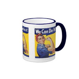 Mug: We Can Do It  - Vintage Poster Image Ringer Mug