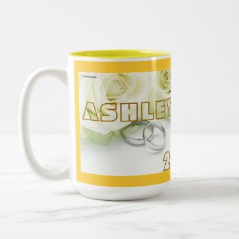 Mug Wedding Custom Name And Date by CREATIVEWEDDING at Zazzle