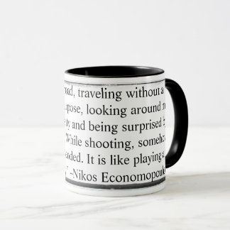 Mug While shooting thinking is suspended Economopo