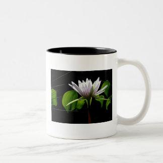 Mug, White Water Lily with Light Two-Tone Coffee Mug