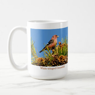 Mug, White-winged Crossbill Classic White Coffee Mug