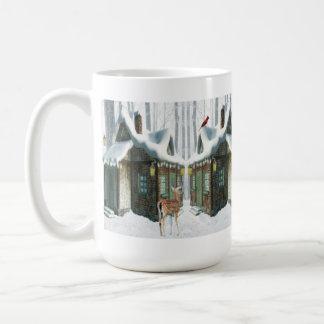 Mug-Winter Cottage with Deer