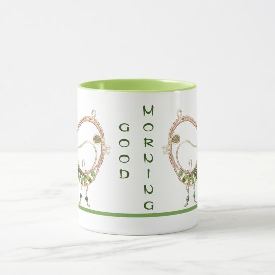 Mug - Wire Bird with Green Stones