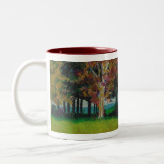 "Mug with a wrap around""Home in the Fall"" Design"