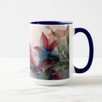 Mug  with abstract floral design