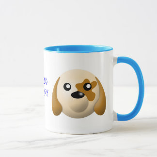 mug with animal cartoon style: dog