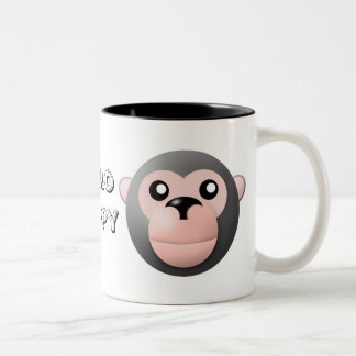 mug with animal cartoon style: monkey