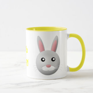 mug with animal cartoon style: rabbit