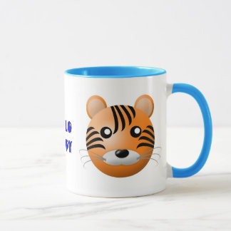mug with animal cartoon style: tiger