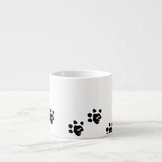 Mug with Basset's paw 6 Oz Ceramic Espresso Cup