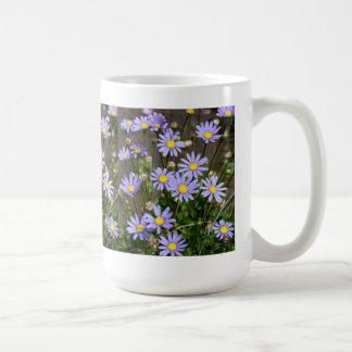 Mug with Blue Marguerite Flowers