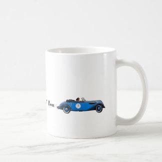 Mug with blue vintage car