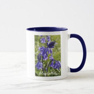 Mug with bluebell flowers