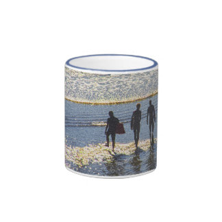 Mug with boogie boarders  a vintage style