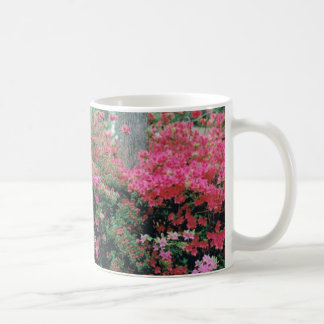 Mug with Bright Pink Azalea Blossoms