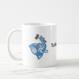 Mug with Brown and Blue Logo and Text