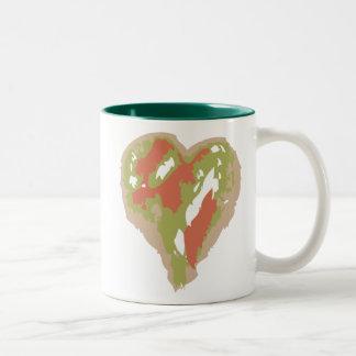 Mug with Camouflage Heart Design