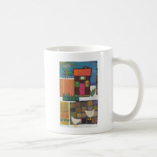 Mug with chickens