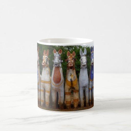 Mug with Clay Horses