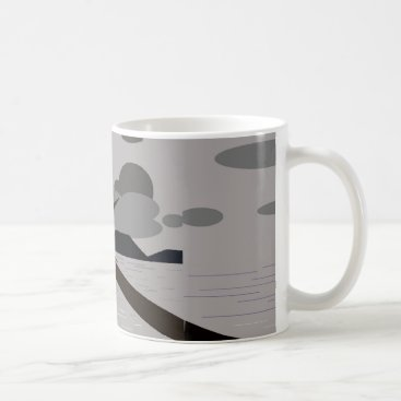 Mug with cloudy beach