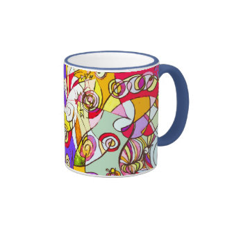 Mug with Colour Fragments Abstract Design