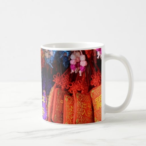 MUG with Colourful Chinese Trinkets