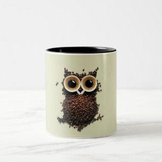 Mug with cute coffee owl