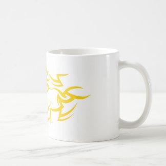 mug with Dark Protectors logo yellow