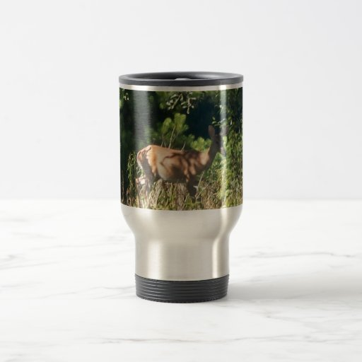 mug with deer picture