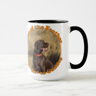 Mug with Dogs of the Feather quote