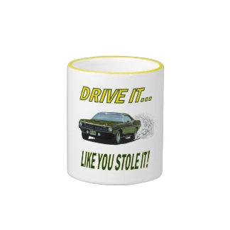 Mug with DRIVE IT design