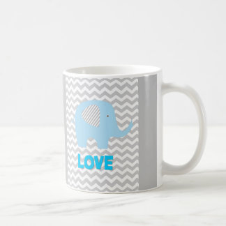 Mug with Elephant Chevron Love