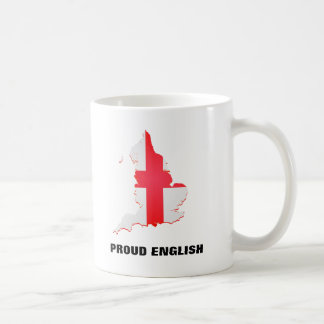 Mug with England map and text Proud English