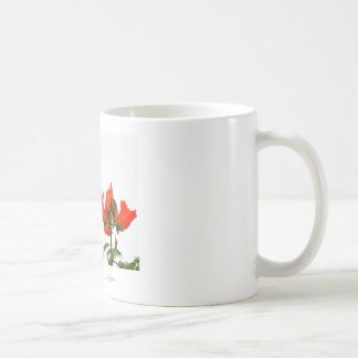 Mug with exotic tropical green and orange parrot