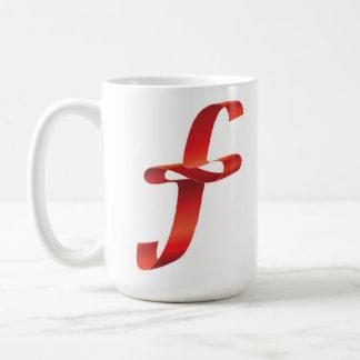 Mug with F letter