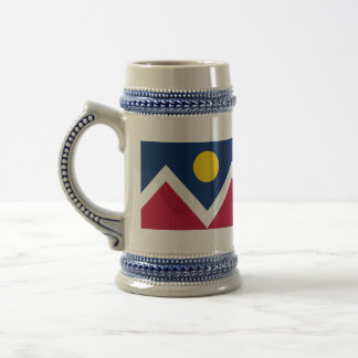 Mug with Flag of  Denver, Colorado State -USA