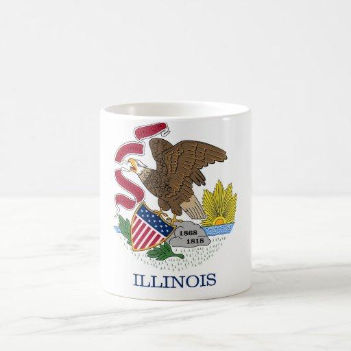 Mug with Flag of Illinois State - USA