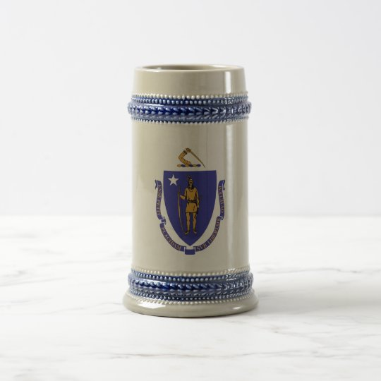 Mug with Flag of Massachusetts State -USA