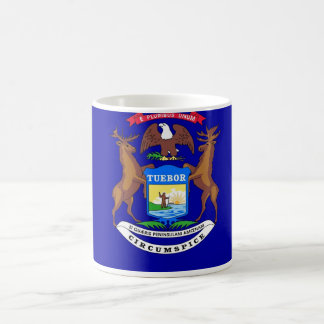 Mug with Flag of Michigan State - USA