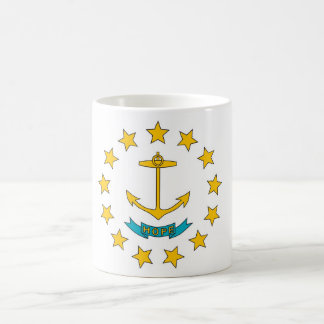 Mug with Flag of Rhode Island State - USA
