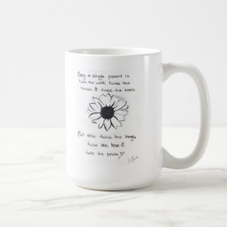 Mug with Flower and Single Parent Quote