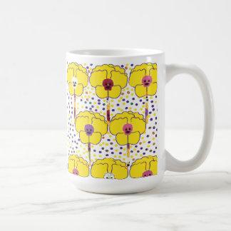 Mug with flower pansies design