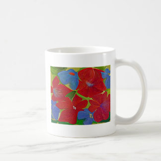 Mug with flowers & quotation