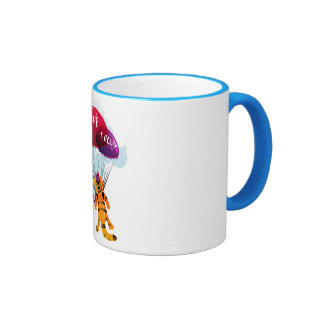 Mug  with flying cat picture