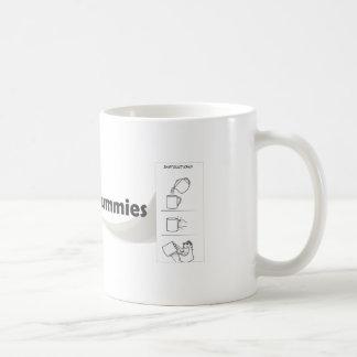 Mug with instructions taza de café
