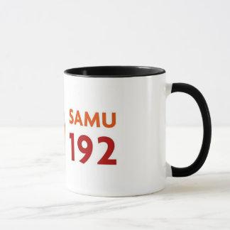 Mug with logomarca SAMU 192